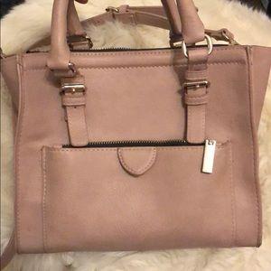 Handbags - Zara Mauve Large Leather Crossbody Bag
